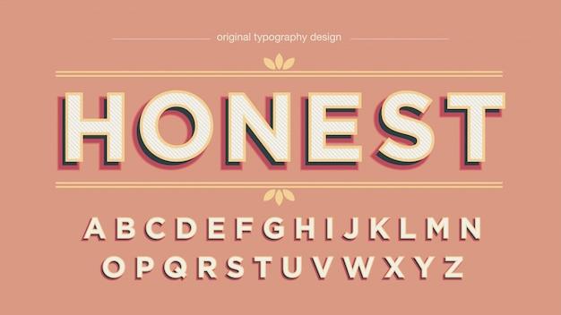 Vintage mutige schatten-typografie