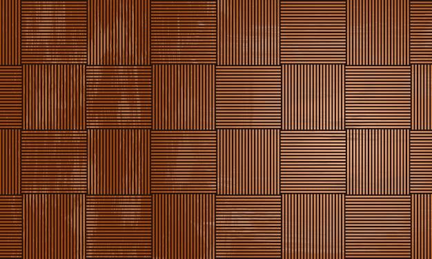 Vintage nahtlose geometrische sich wiederholende gestreifte linienquadrathintergrund aus holz