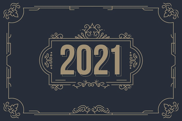 Vintage neujahr 2021 hintergrund