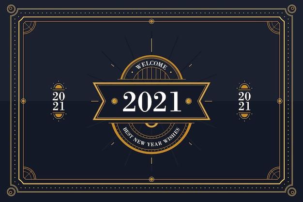 Vintage neujahr 2021 konzept