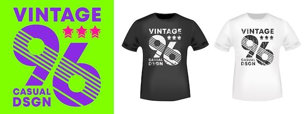 Vintage nummer 96 t-shirt drucken stempel