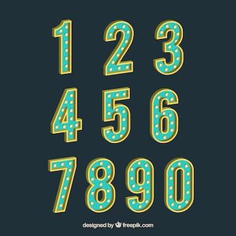 Vintage-nummer sammlung