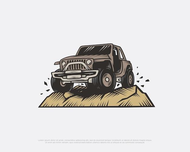 Vintage offroad-designillustration