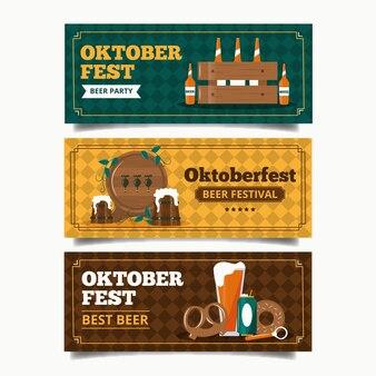 Vintage oktoberfest banner vorlage