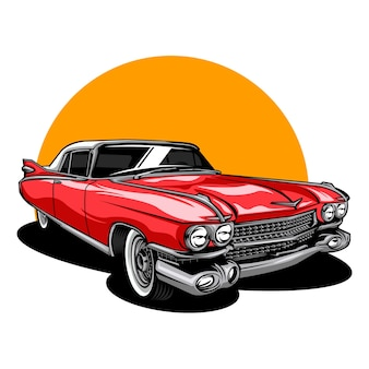 Vintage oldtimer illustration