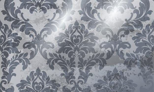 Vintage ornament hintergrund. barockes rokokobeschaffenheits-luxusdesign. königliche textildekore