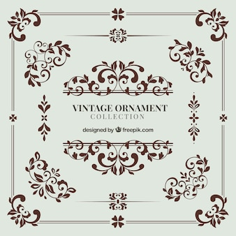 Vintage ornament kollektion mit eleganter stil