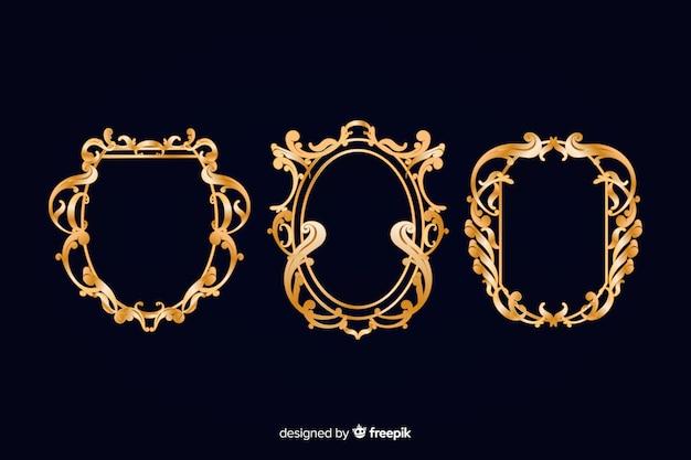 Vintage ornamentale logo festgelegt