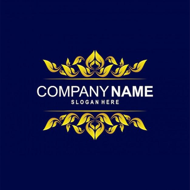 Vintage ornamentale logo vorlage