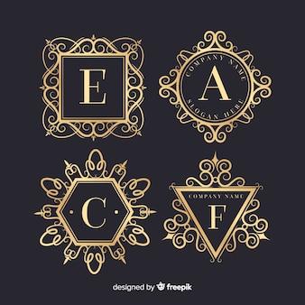 Vintage ornamentale logos festgelegt