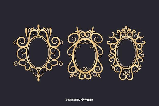 Vintage ornamentale logos packen