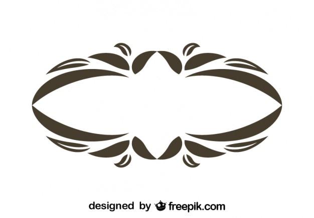 Vintage oval dekorative blumen-rahmen-design