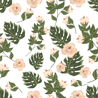 Vintage pastell farbe floral flower nahtlose muster