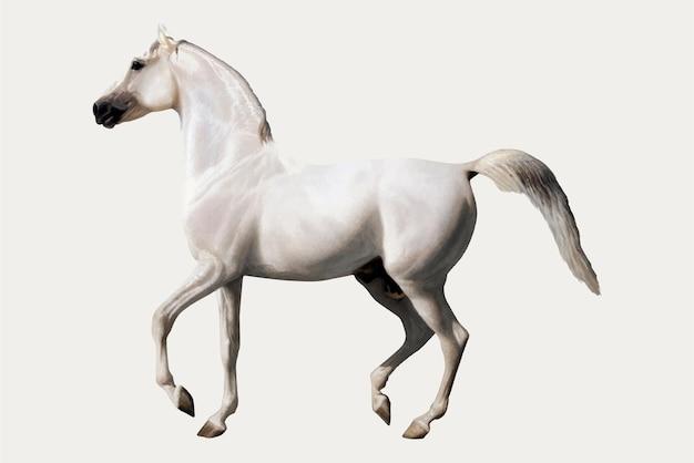 Vintage pferdeillustration, remixed von kunstwerken von jacques-laurent agasse