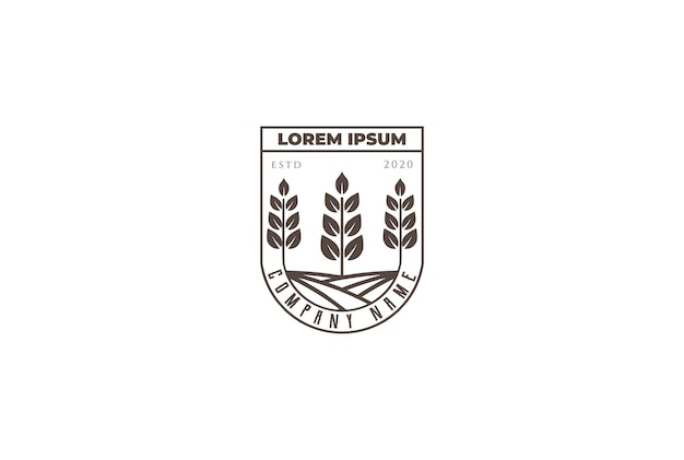 Vintage pflanze blatt landwirtschaft garten natur logo design vektor