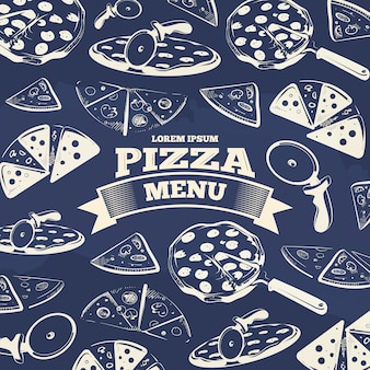 Vintage-pizza-menü-cover-design