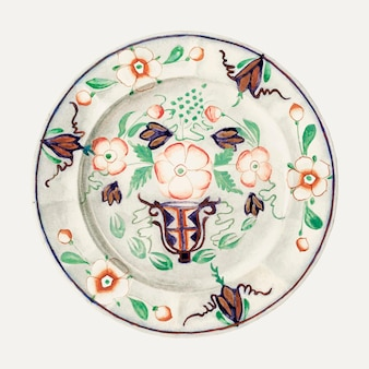 Vintage plate vector illustration, remixed aus dem artwork von byron dingman