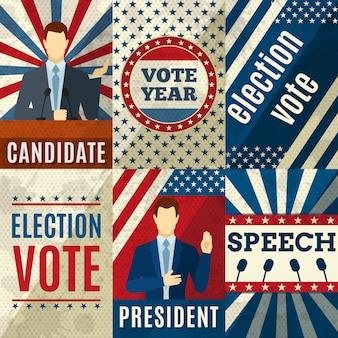 Vintage politik poster