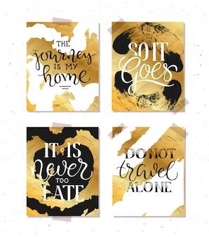 Vintage poster mit motivation zitat auf abstrakten hintergrund