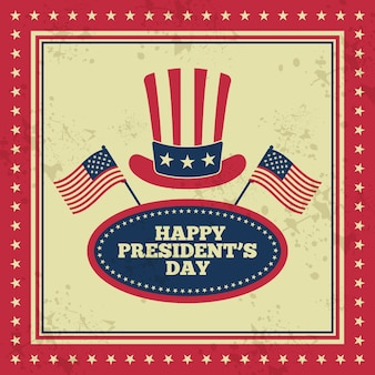 Vintage präsidenten day-konzept