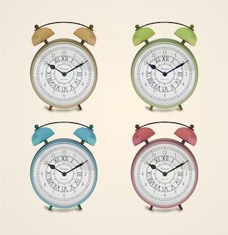 Vintage premium wecker mit vier verschiedenen farben zur auswahl