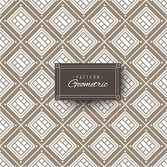 Vintage quadratischen geometrischen muster