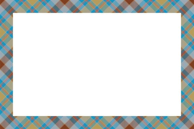 Vintage-rahmen-vektor. retro-stil des schottischen grenzmusters. leerer hintergrund der schönheit, vorlage für foto, porträt, album. tartan kariertes ornament.