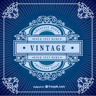 Vintage-rahmen-vorlage