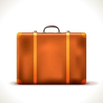 Vintage reisekoffer isoliert