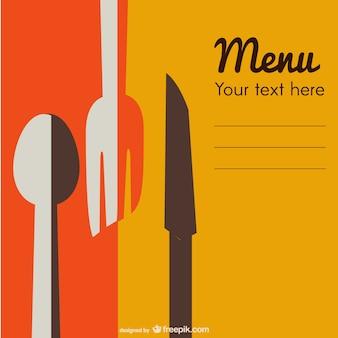 Vintage restaurant-menü kostenlos zum download