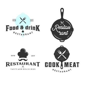 Vintage restaurant sammlung logo