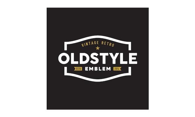 Vintage / retro abzeichen logo design