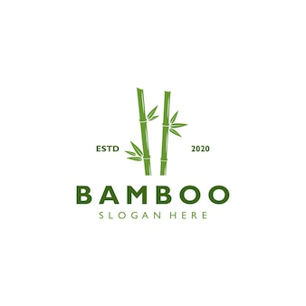 Vintage retro bambus logo vorlage