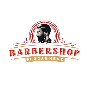 Vintage retro barbershop logo