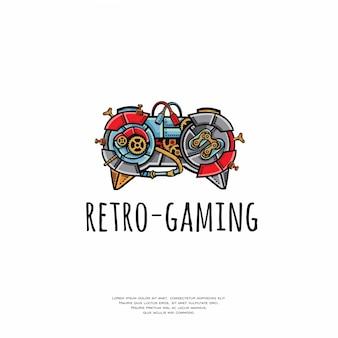 Vintage retro-gaming-stick-logo
