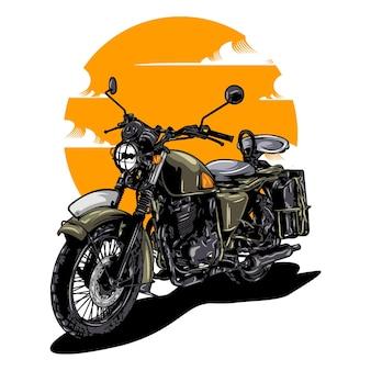 Vintage retro motorrad illustration