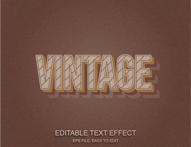 Vintage retro-stil texteffekt