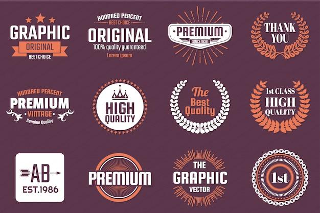 Vintage retro-vektor-logo