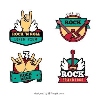 Vintage rock-logo-sammlung