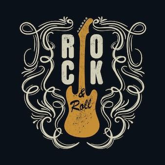 Vintage rock'n'roll typografisch für t-shirt