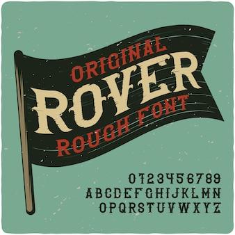 Vintage rover-schriftzug