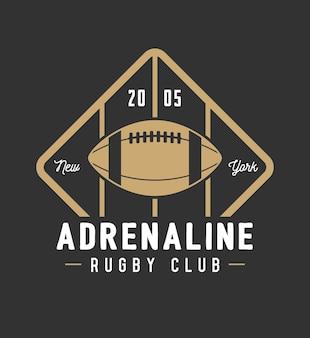 Vintage rugby- und american-football-labels