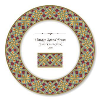 Vintage runde retro-rahmen von spiral cross check