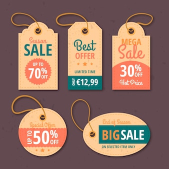 Vintage sale tags pack