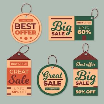 Vintage sale tags set