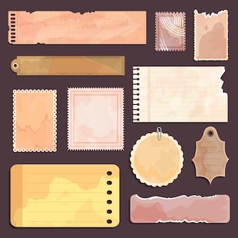 Vintage sammelalbumpapiersammlung