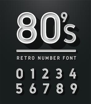 Vintage sans serif alphabet