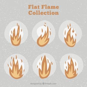 Vintage satz von flammen