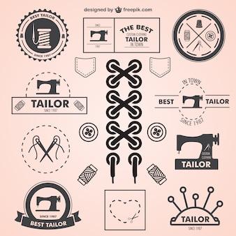 Vintage schneider symbole gesetzt