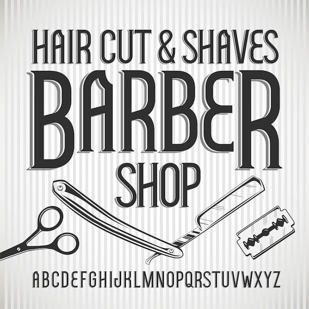 Vintage schrift barbershop.